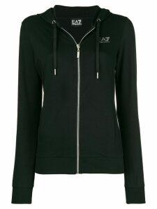Ea7 Emporio Armani zipped hoodie - Black