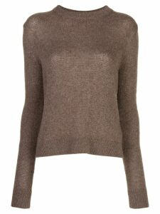 The Row Muriel cashmere slim-fit jumper - Brown