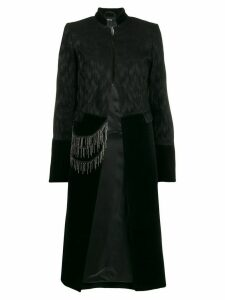 Isabel Benenato chain-detail long coat - Black