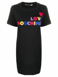 Love Moschino logo T-shirt dress - Black