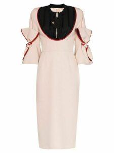 Duran Lantink zip neck midi dress - Pink