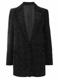 Blazé Milano longline glitter blazer - Black