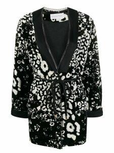 Patrizia Pepe geometric print blazer - Black