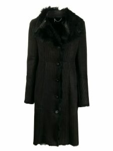 Patrizia Pepe single-breasted fitted coat - Black