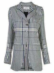 Loewe check print blazer - Black