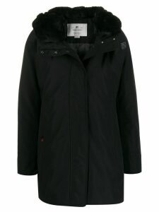 Woolrich zipped hooded parka coat - Black