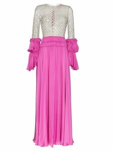 Duran Lantink long net ruffle gown - Pink