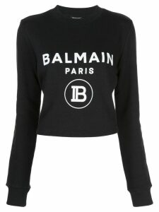 Balmain logo printed jumper - Black