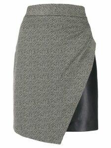 LIU JO jacquard-print mini skirt - Black