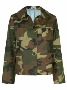 Ashley Williams camouflage print button-down jacket - Green