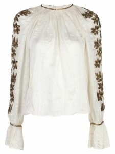 Ulla Johnson floral embroidered blouse - White
