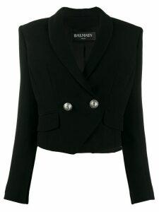 Balmain double-breasted cropped blazer - Black