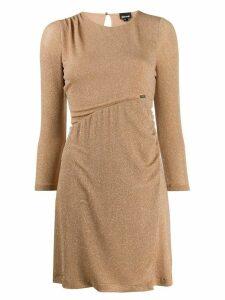 Just Cavalli asymmetric waist dress - Brown