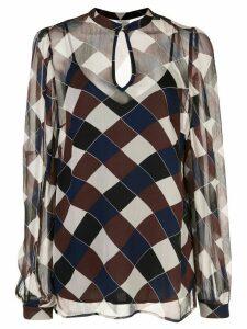 Baum Und Pferdgarten geometric long-sleeve blouse - Brown