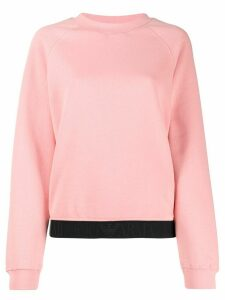 Ea7 Emporio Armani two-tone relaxed-fit sweatshirt - PINK