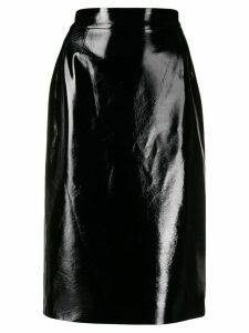LIU JO patent midi skirt - Black