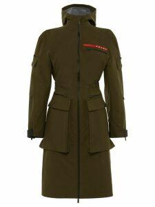 Prada technical fabric military jacket - Green