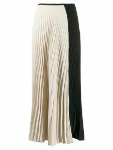 Noon By Noor Avalon pleated two-tone skirt - Black