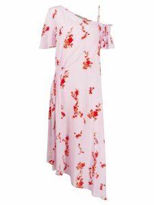 Preen Line cold shoulder floral print dress - Pink