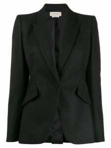 Alexander McQueen single-breasted blazer - Grey