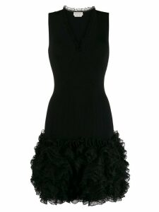 Alexander McQueen ruffled short dress - Black