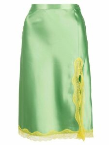 Callipygian neon yellow lace slip skirt - Green