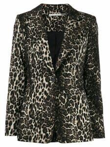 Alice+Olivia Tobby leopard blazer - Brown