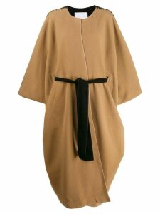 Noon By Noor Syracuse oversized cape coat - Neutrals