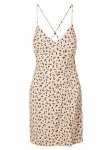 Callipygian floral print slip dress - Neutrals