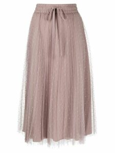 Red Valentino RED(V) point d'esprit pleated skirt - Pink