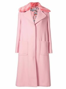 Vivetta faux-fur collar coat - Pink