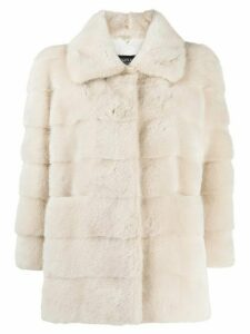 Simonetta Ravizza Elba short coat - NEUTRALS