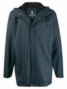 Rains hooded short coat - Blue