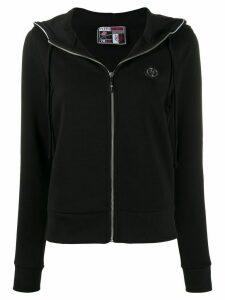 Plein Sport zipped logo hoodie - Black