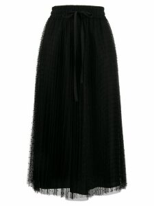 Red Valentino RED(V) point d'esprit pleated skirt - Black