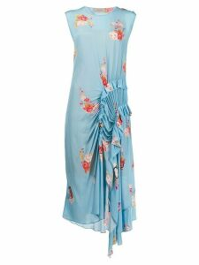 Preen Line floral print dress - Blue