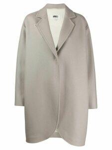 Mm6 Maison Margiela oversized flapped coat - Neutrals
