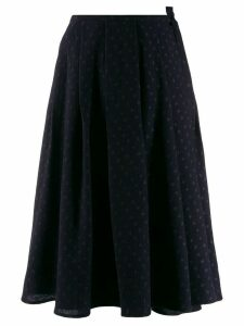 Apuntob polka dot flared skirt - Blue
