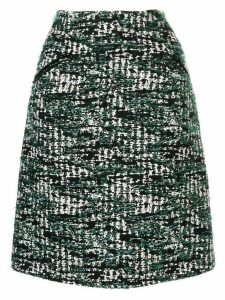 Anteprima tweed A-line skirt - Green