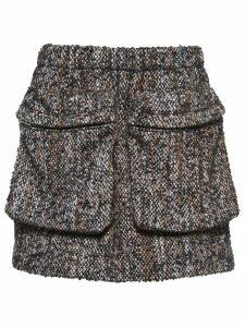 Miu Miu bouclé tweed mini skirt - Grey