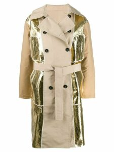Nº21 metallic panels trench coat - Brown
