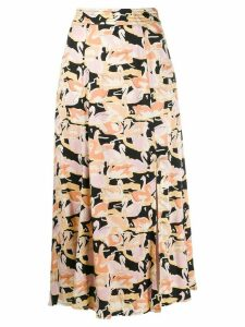 Stine Goya swan print midi skirt - Neutrals