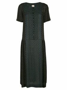 Zanini patterned midi dress - Blue