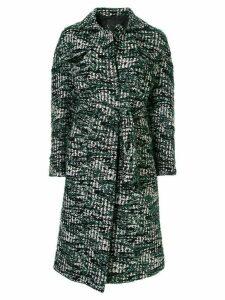 Anteprima tweed belted coat - Green