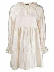 Stine Goya lace trimmed shift dress - Neutrals