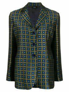 Aspesi jacquard grid blazer - Yellow