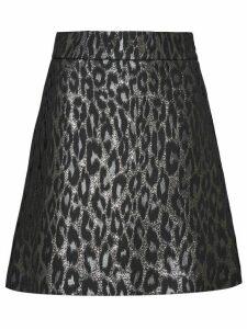 Miu Miu lamé jacquard skirt - Grey