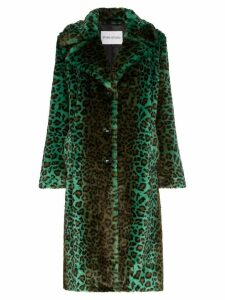 STAND STUDIO Fanny leopard-print faux fur coat - Green