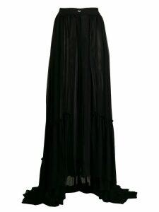 Ann Demeulemeester front button skirt - Black