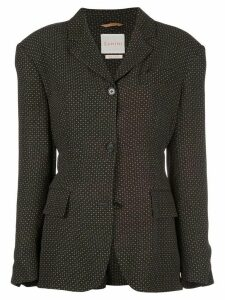 Zanini patterned fitted blazer - Brown